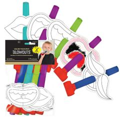 New Year's Eve Coloring Blowouts, 8ct