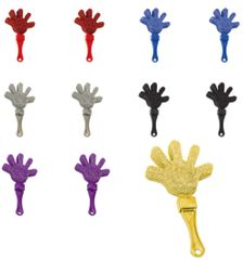 Glitter Plastic Hand Clapper - Assorted Colors