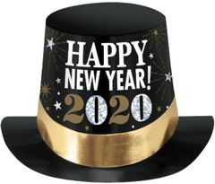 """2020"" Prismatic Top Hat - Black, Silver, Gold"