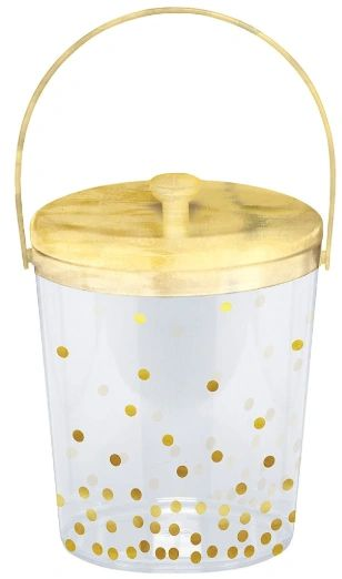 Dots Plastic Ice Bucket - Hot-Stamped