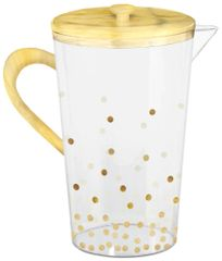 Dots Plastic Pitcher - Hot-Stamped
