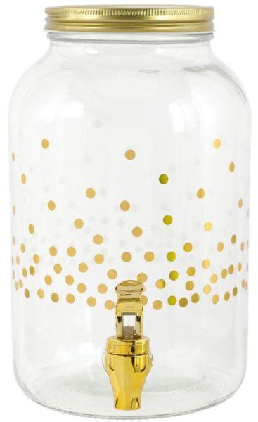 Dots Plastic Beverage Dispenser - Hot-Stamped