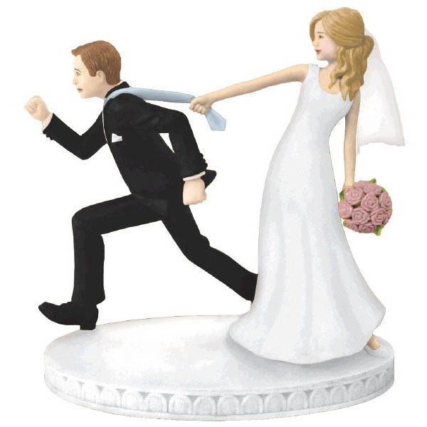 Tie Puller Bride & Groom Wedding Cake Topper