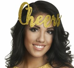 Glitter Gold Cheers New Year's Headband