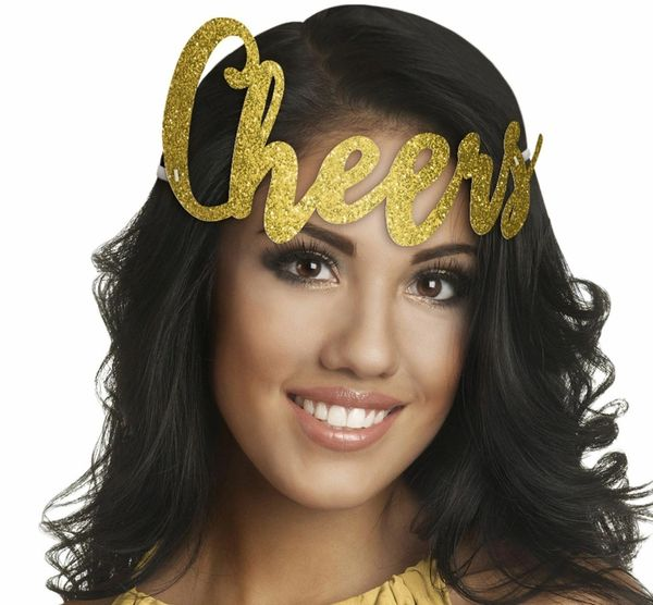 Glitter Gold Cheers New Year's Headband