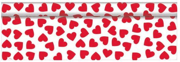 Valentine Plastic Table Roll, 100ft