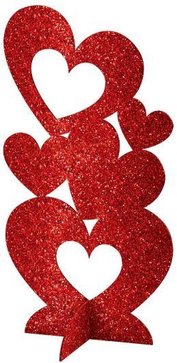 Hearts 3-D Centerpiece