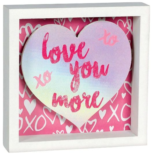 Love You More Small Shadowbox