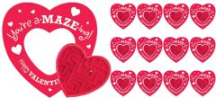 Cards with Heart Maze Puzzles, 12ct