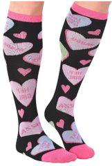 Conversation Hearts Knee Socks