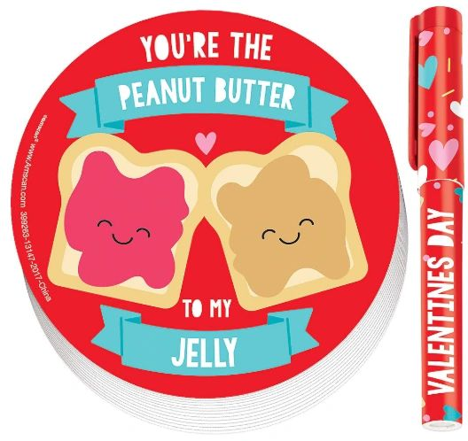 Valentine Peanut Butter & Jelly Pad w/Pen