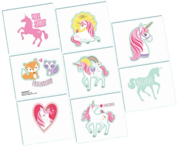 Magical Unicorn Tattoos, 8ct