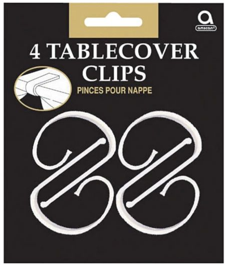 Plastic Table Cover Clips, 4ct