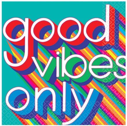 Good Vibes Luncheon Napkin, 16ct