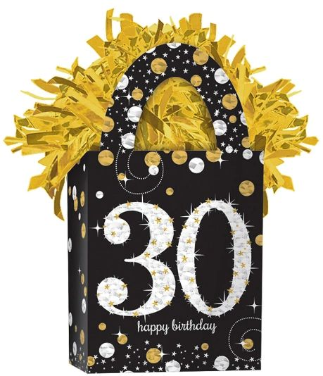 Mini Tote Balloon Weight - Sparkling Celebration 30