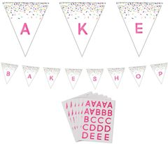 Bakeware Party Customizable Paper Pennant Banner, 15ft