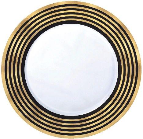 "Gold Stripe Plastic Dessert Plates, 7 1/2"" - 20ct"