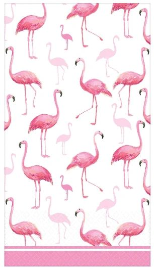 Flamingo Flock Guest Towels, 16ct