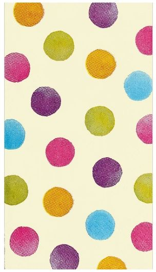 Soft Watercolor Dots Guest Towels, 16ct
