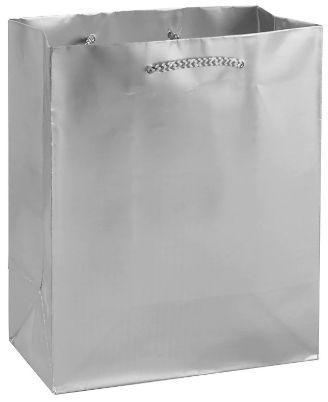 Silver Matte Medium Gift Bag