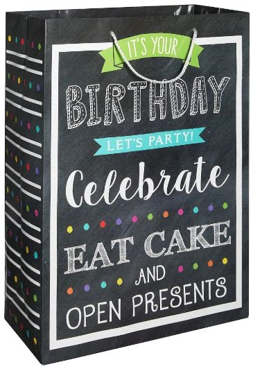X-Large Gift Bag - Chalkboard Birthday