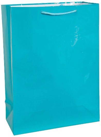 Jumbo Glossy Bag - Caribbean Blue
