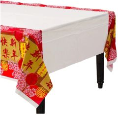 Chinese New Year Blessing Plastic Table Cover