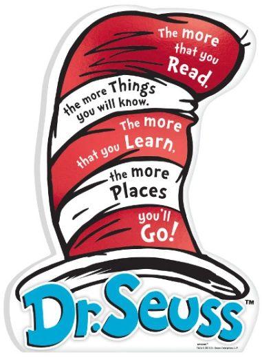 Dr. Seuss Mini Message Cardboard Sign