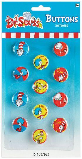 Dr. Seuss Metal Buttons, 12ct