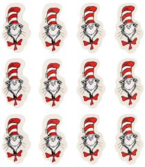 Cat In The Hat Erasers, 12ct