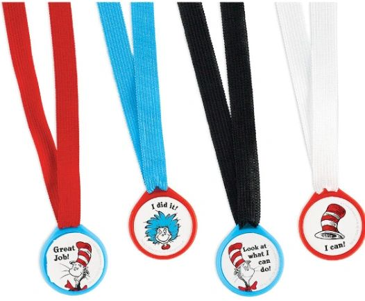 Cat In The Hat Award Medals, 12ct