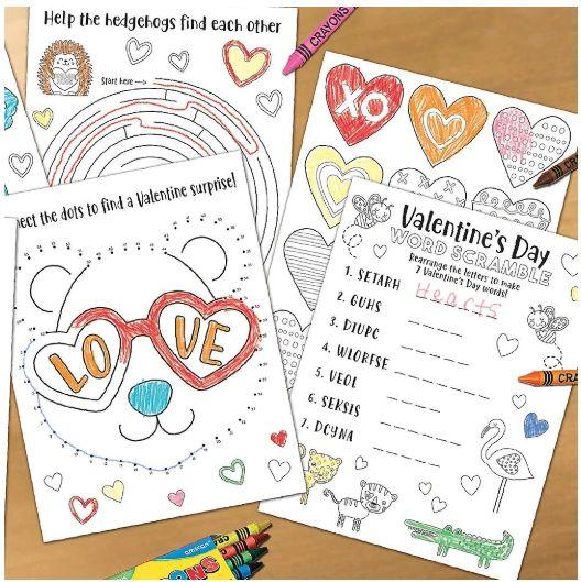 Valentine's Day Activity Sheet, 30ct