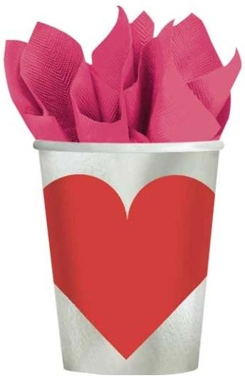 Key to Your Heart Paper Cups 9oz - 8ct