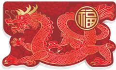 Chinese New Year Die Cut Notepads, 12ct