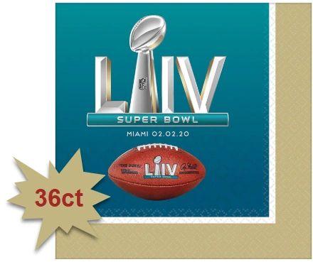 Super Bowl Beverage Napkins, 36ct