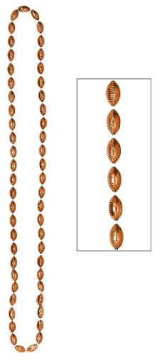 Small Football Bead Necklace