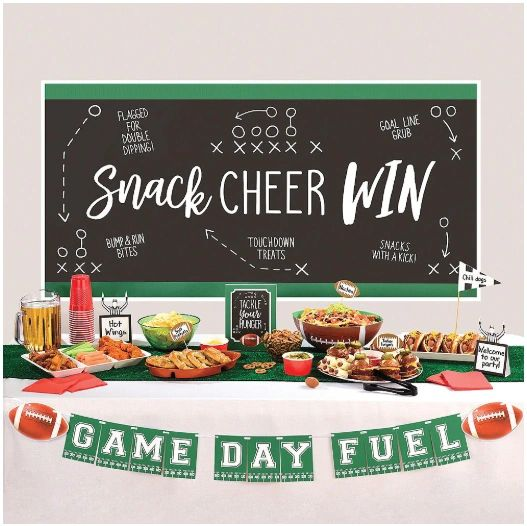 Football Deluxe Buffet Decorating Kit, 15pc