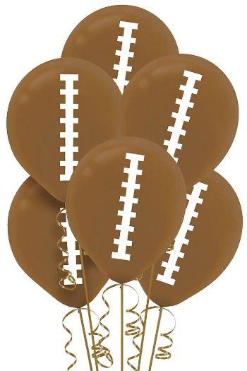 Football Balloons, 6ct