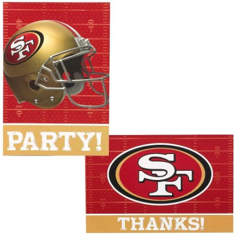 San Francisco 49ers Invitations & Thank You Card Sets, 8ct