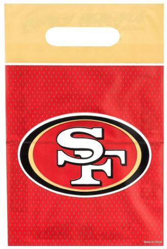 San Francisco 49ers Loot Bags, 8ct