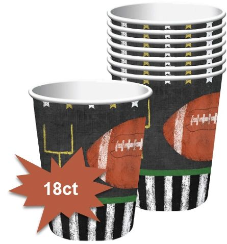Football Game Time Cups, 9oz - 18ct