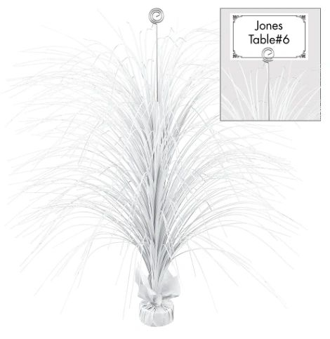 Large Foil Spray Centerpieces - Frosty White
