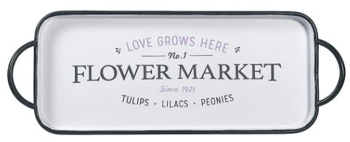 Flower Market Metal Tray