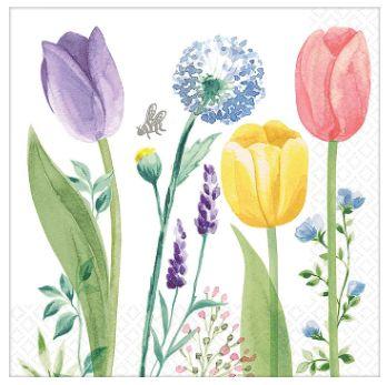 Tulip Garden Beverage Napkins, 16ct