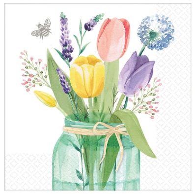 Tulip Garden Luncheon Napkins, 16ct