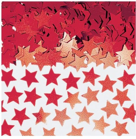 Red Mini Stars Confetti