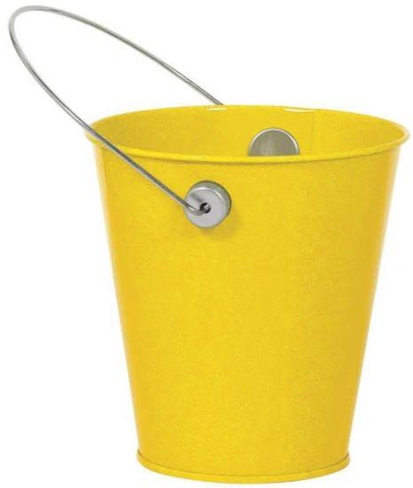Metal Bucket w/ handle - Sunshine Yellow