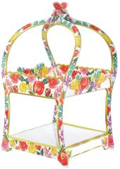 Bright Florals Treat Stand