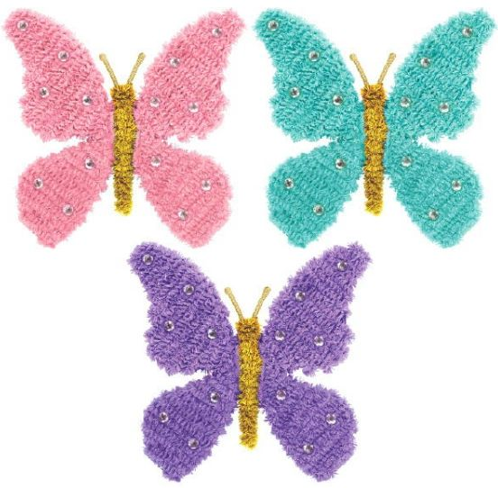 Mini Tinsel 3-D Butterfly