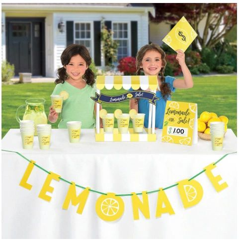 Mini Lemonade Stand Decorating Kit, 42pc